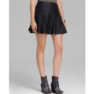 Free People • Vegan Leather Skirt